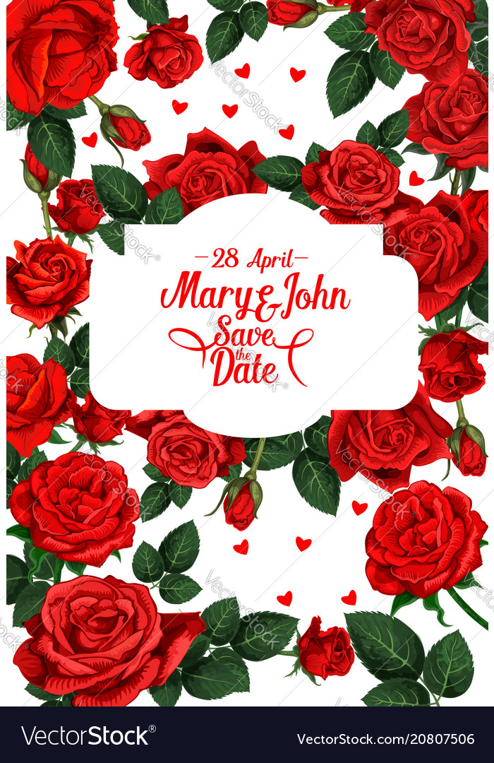 Flowers for save the date wedding card