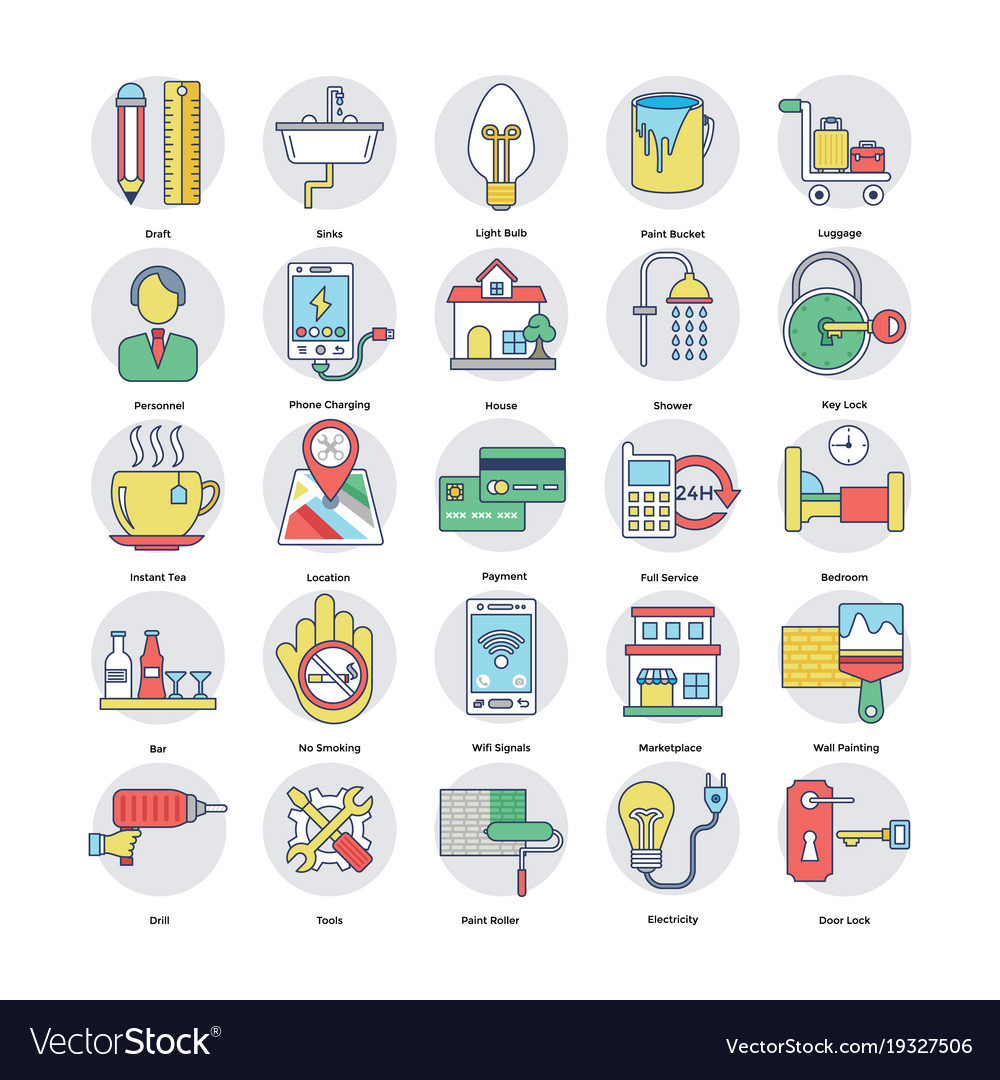 Home services icons set