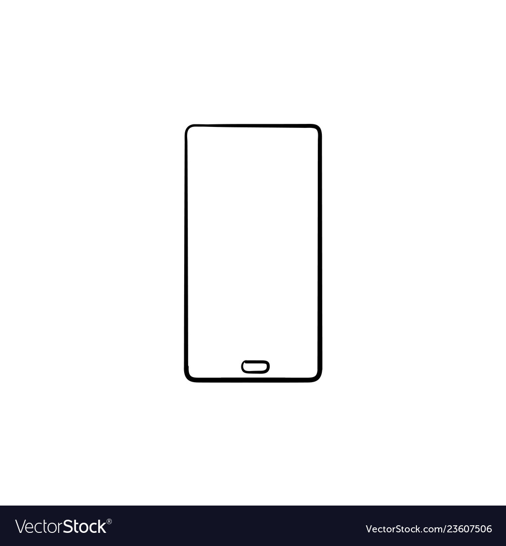 Mobile phone hand drawn outline doodle icon
