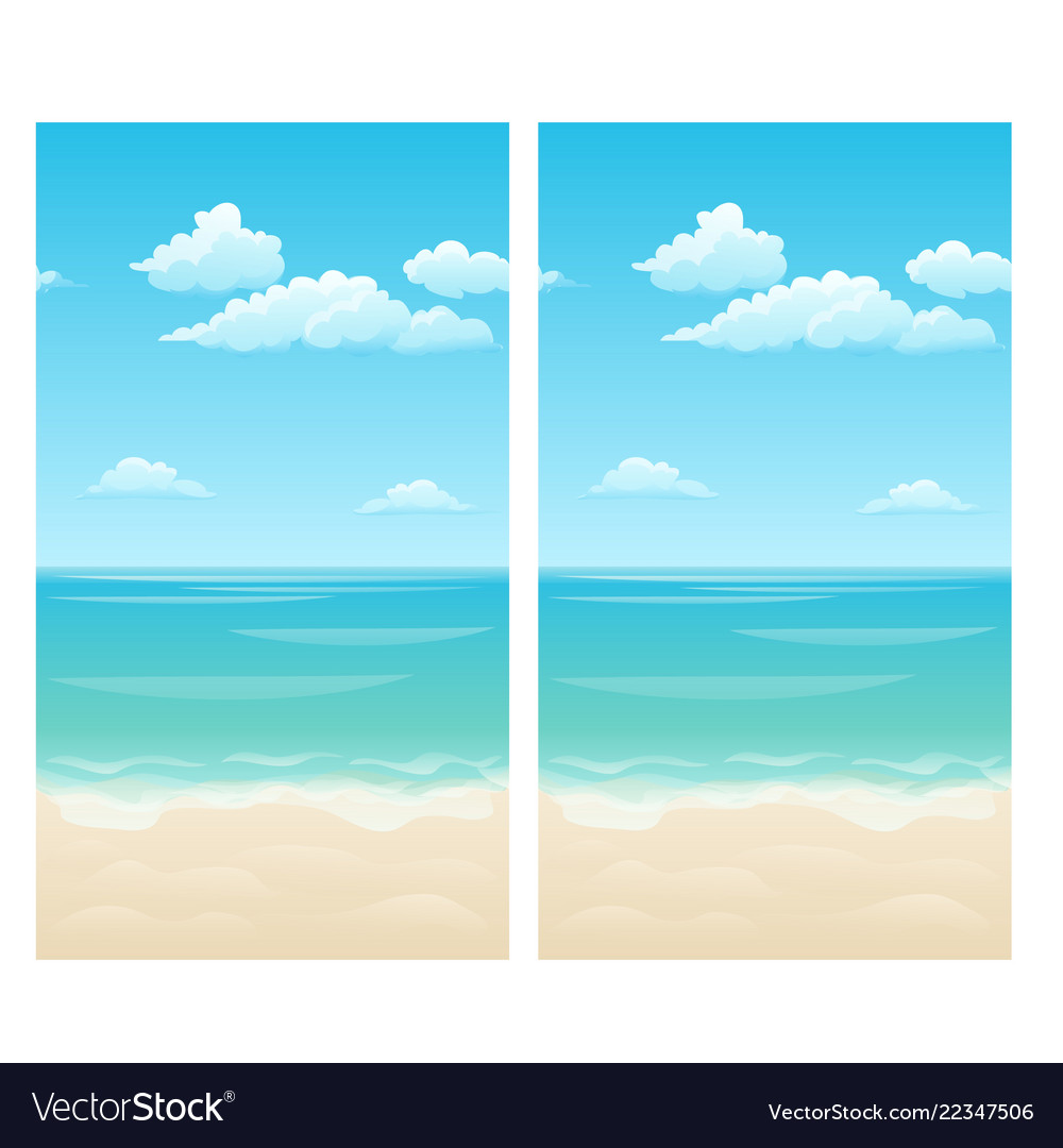 Seamless background with clouds in the sky the