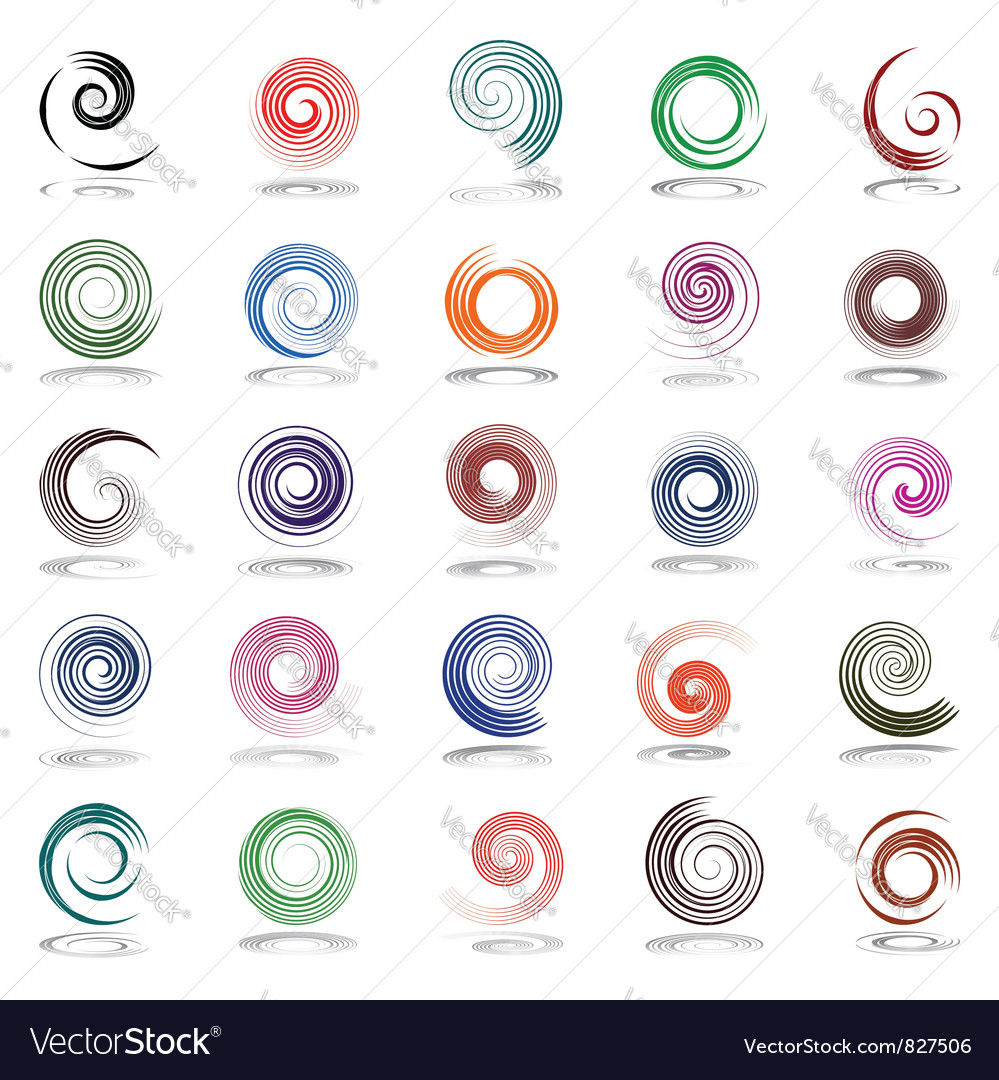 Spiral design elements vector image