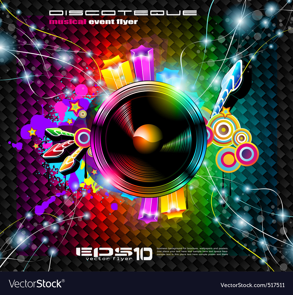 club flyer background royalty free vector image