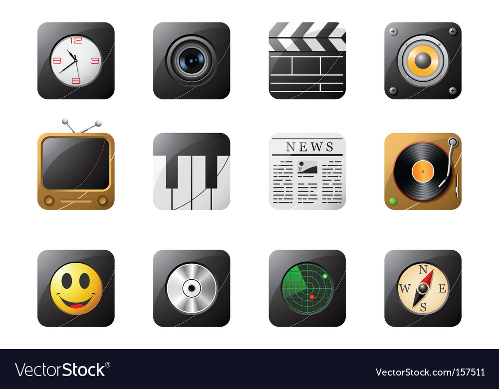 Mobile phone buttons vector image