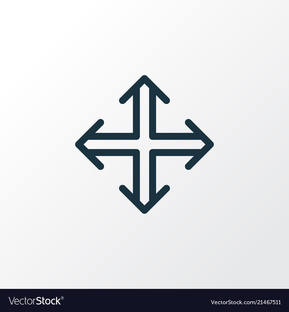 Navigation icon line symbol premium quality