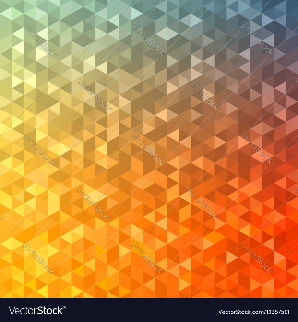 Polygonal abstract Background - red yellow