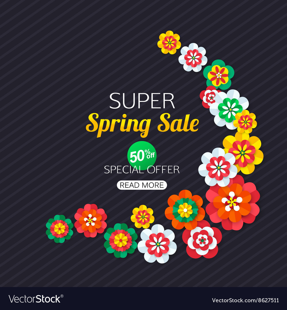 Summer Sale Banner with paper butterfly Summer