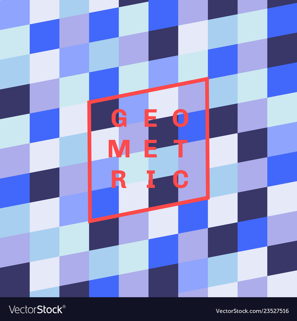 Abstract geometric square pattern blue tone