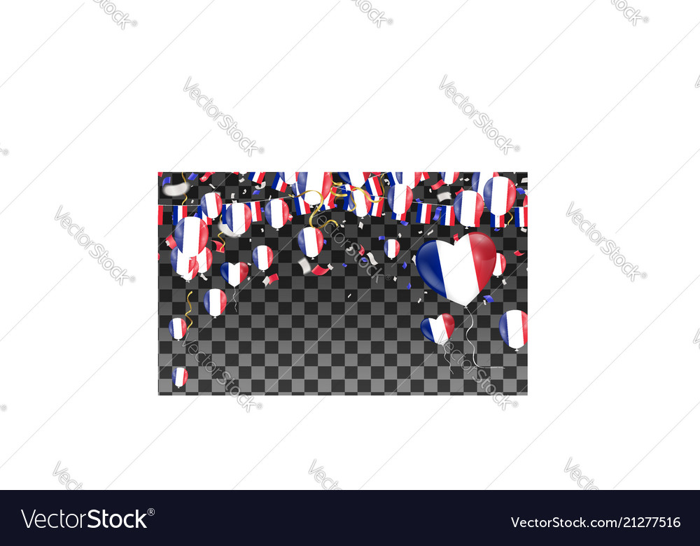 France flags and france balloons garland with