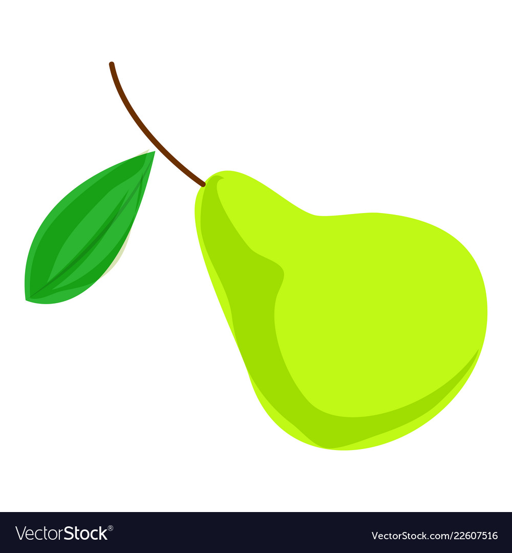 Green pear icon cartoon style Royalty Free Vector Image
