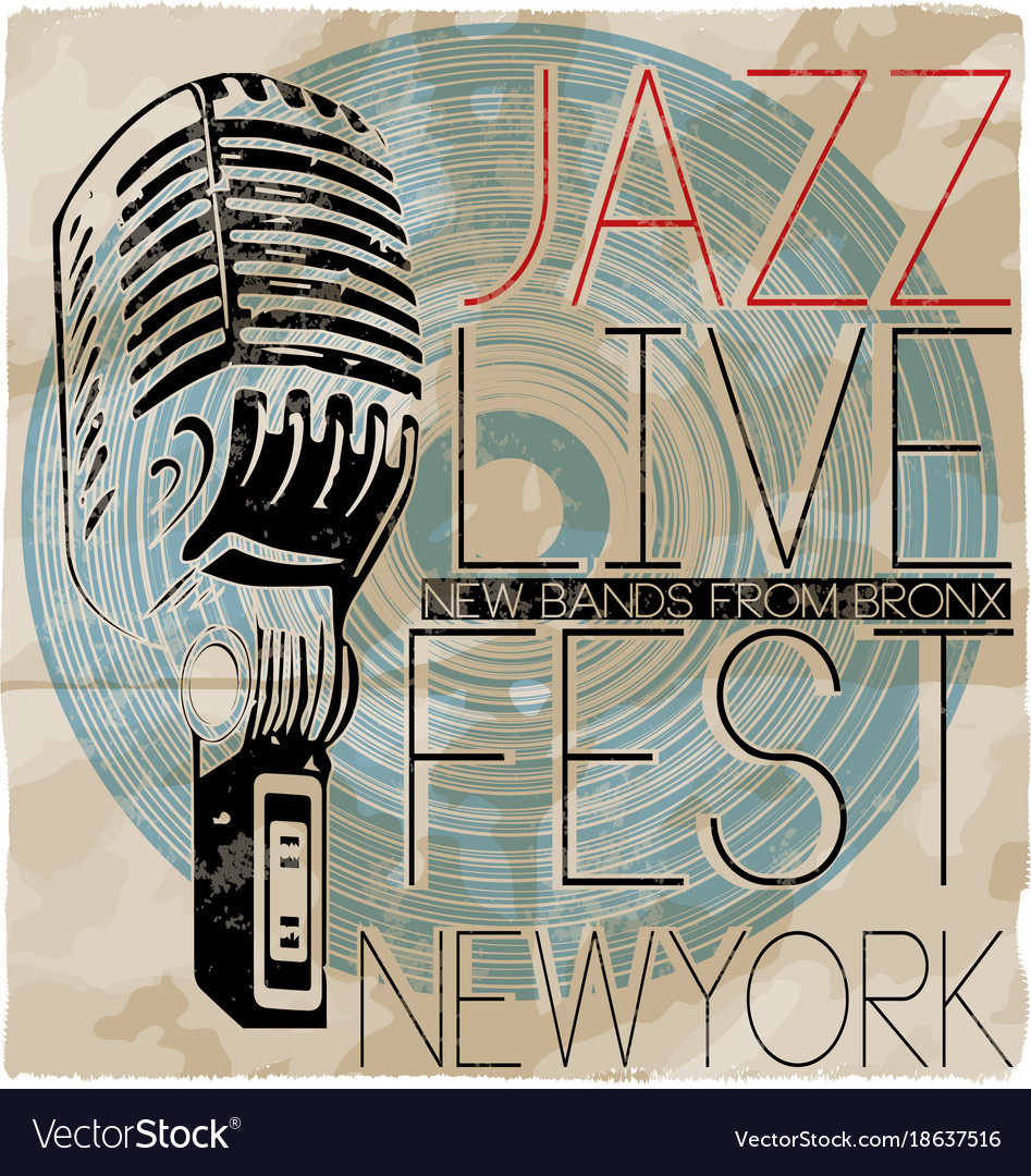 Jazz music concert poster