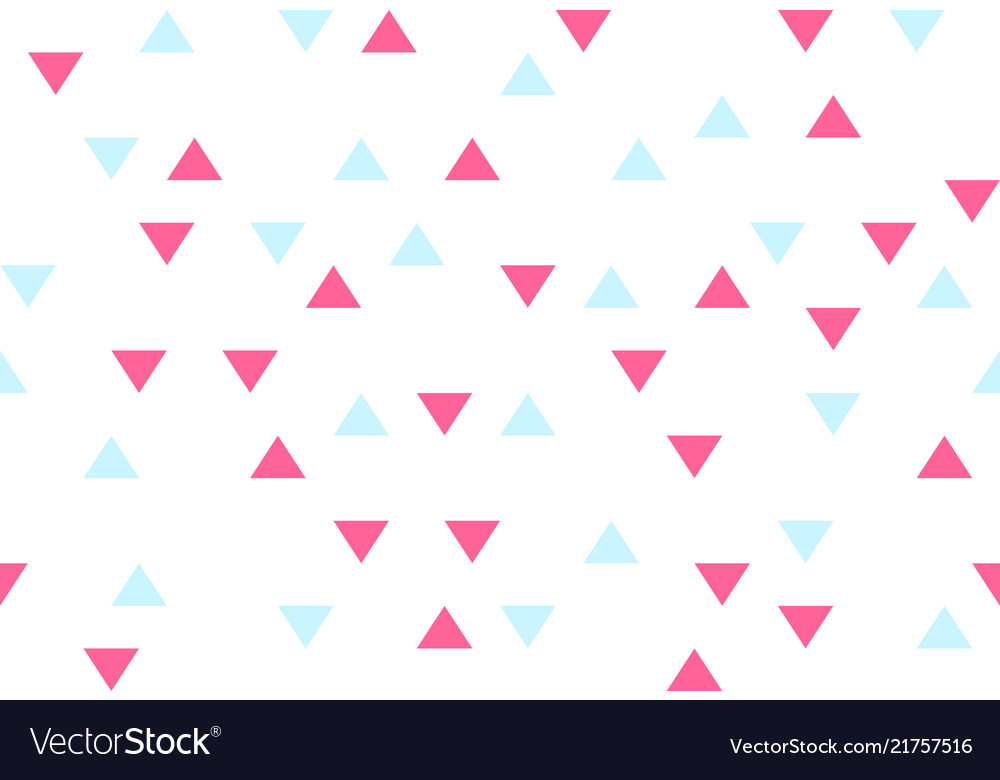 Pink blue colorful abstract triangles retro paper