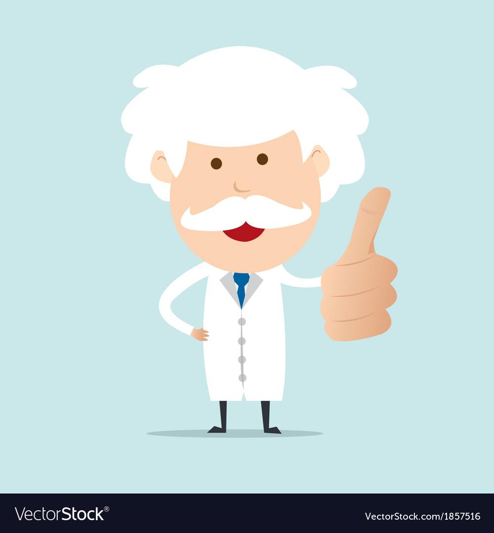 Professor show thumb up