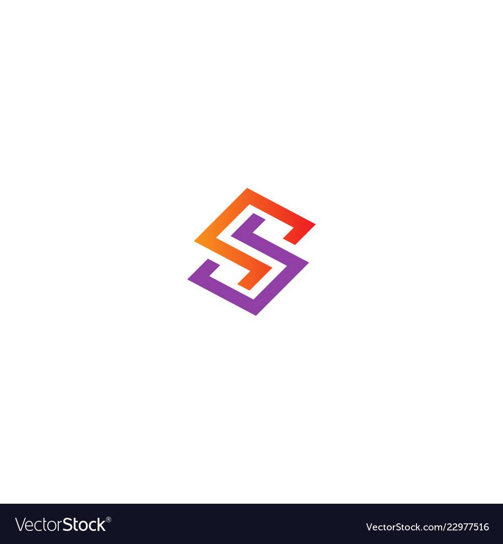 Shape line s initial company logo