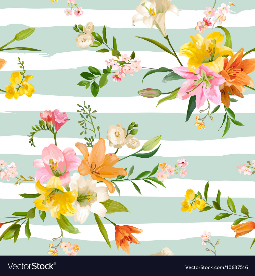 Spring Lily Flowers Backgrounds