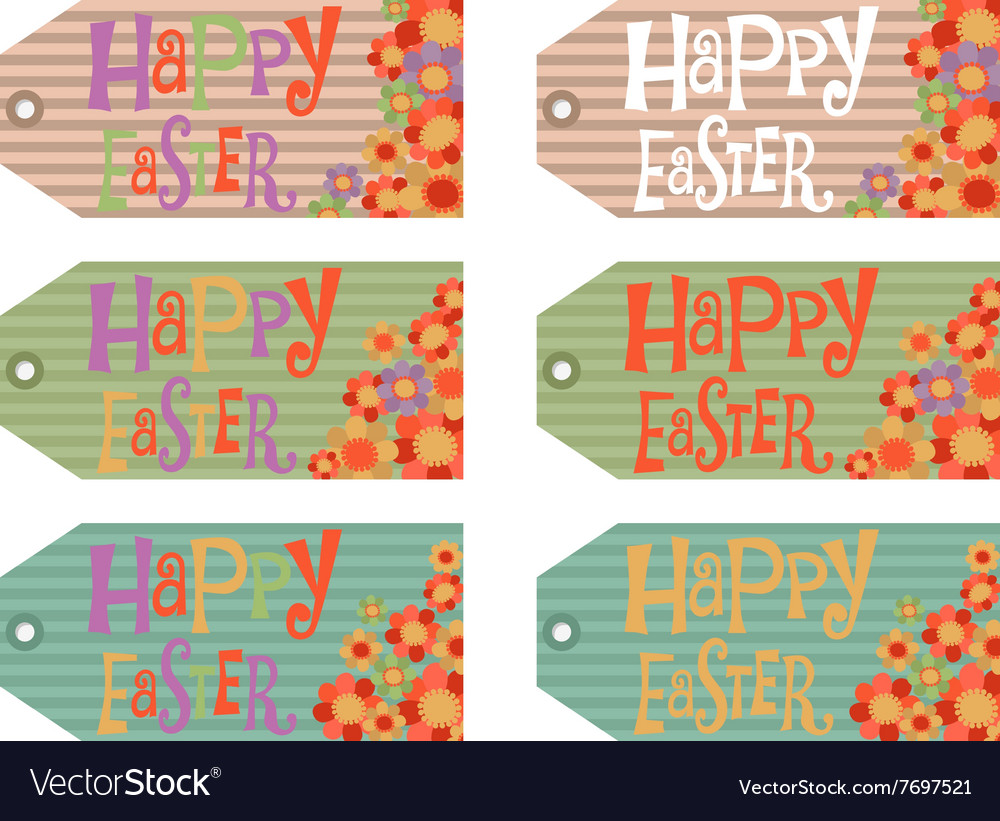 Easter tags set