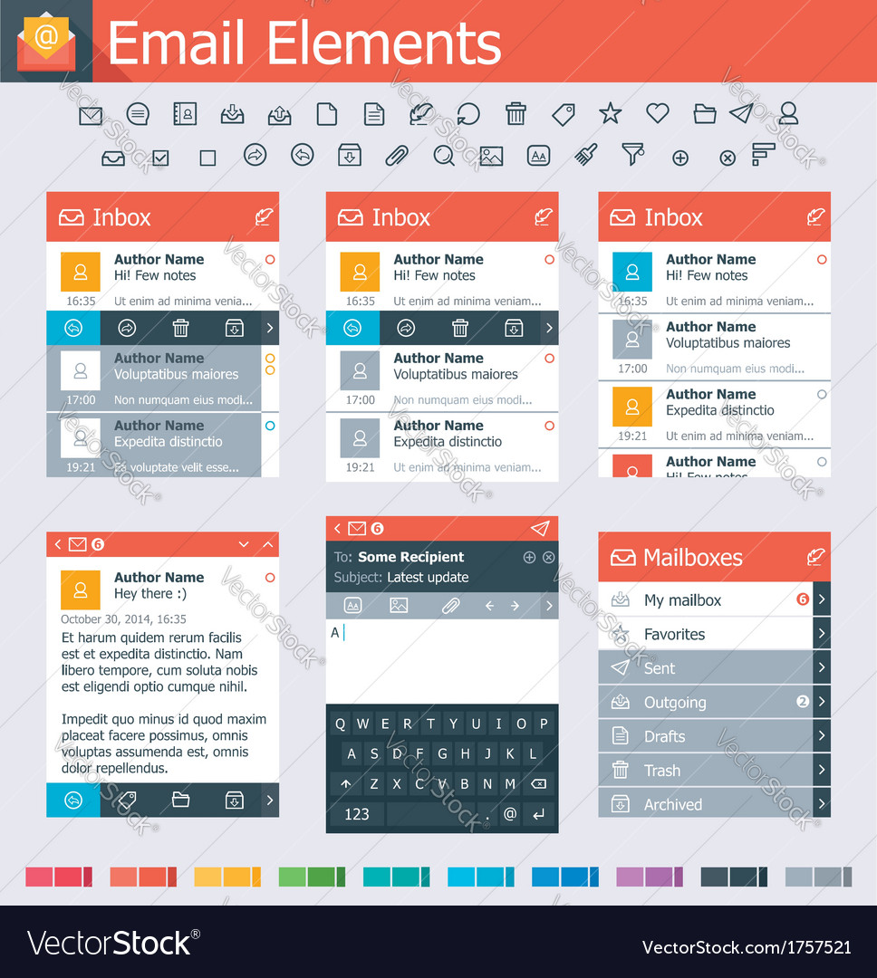 Email elements
