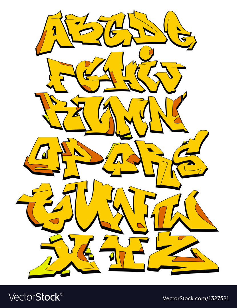 Graffiti alphabet urban font