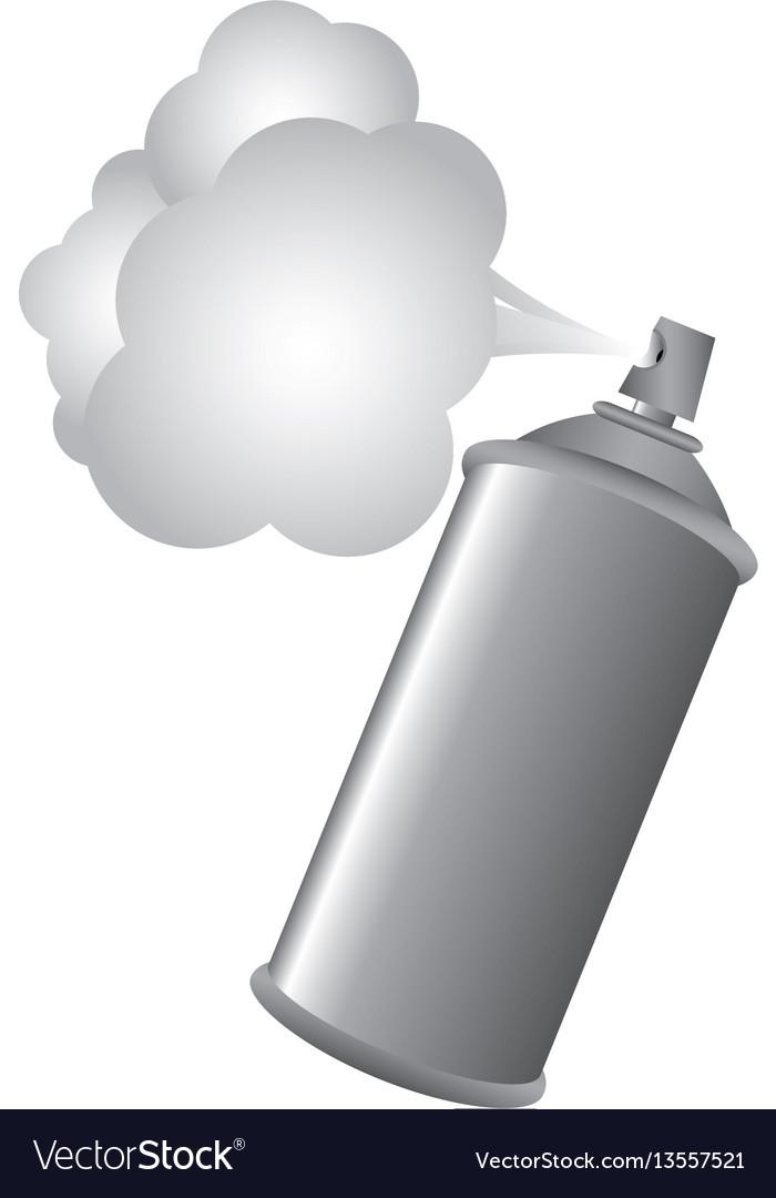 Gray aerosol spray metal with smoke paint