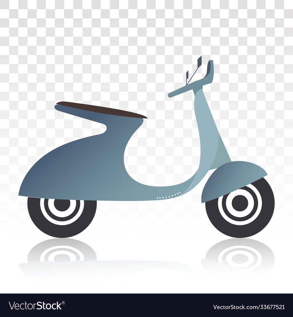 Motorcycle Scooter Flat Icons For Classic Motor Vector Image
