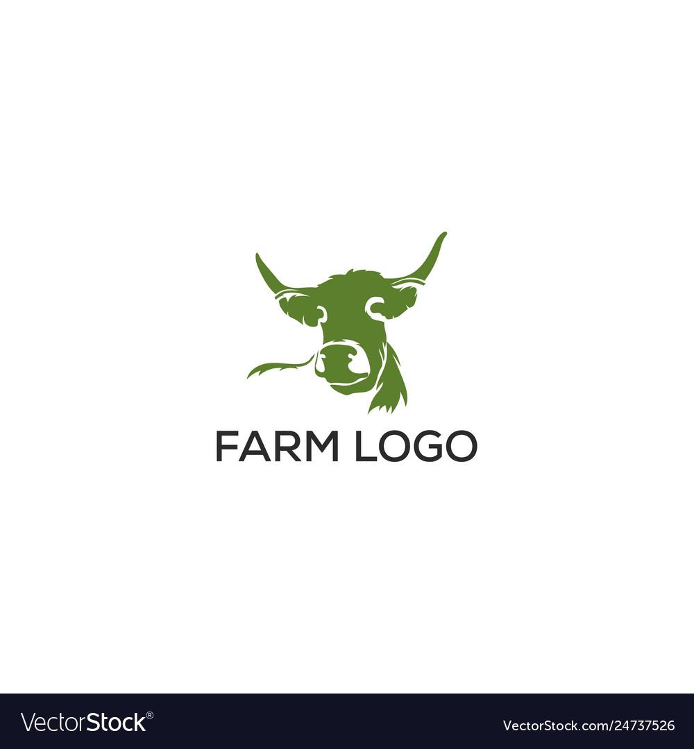 Angus cow farm logo graphic design template