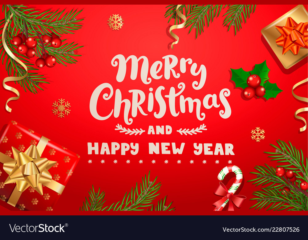 christmas banner new year card for winter holidays vector image