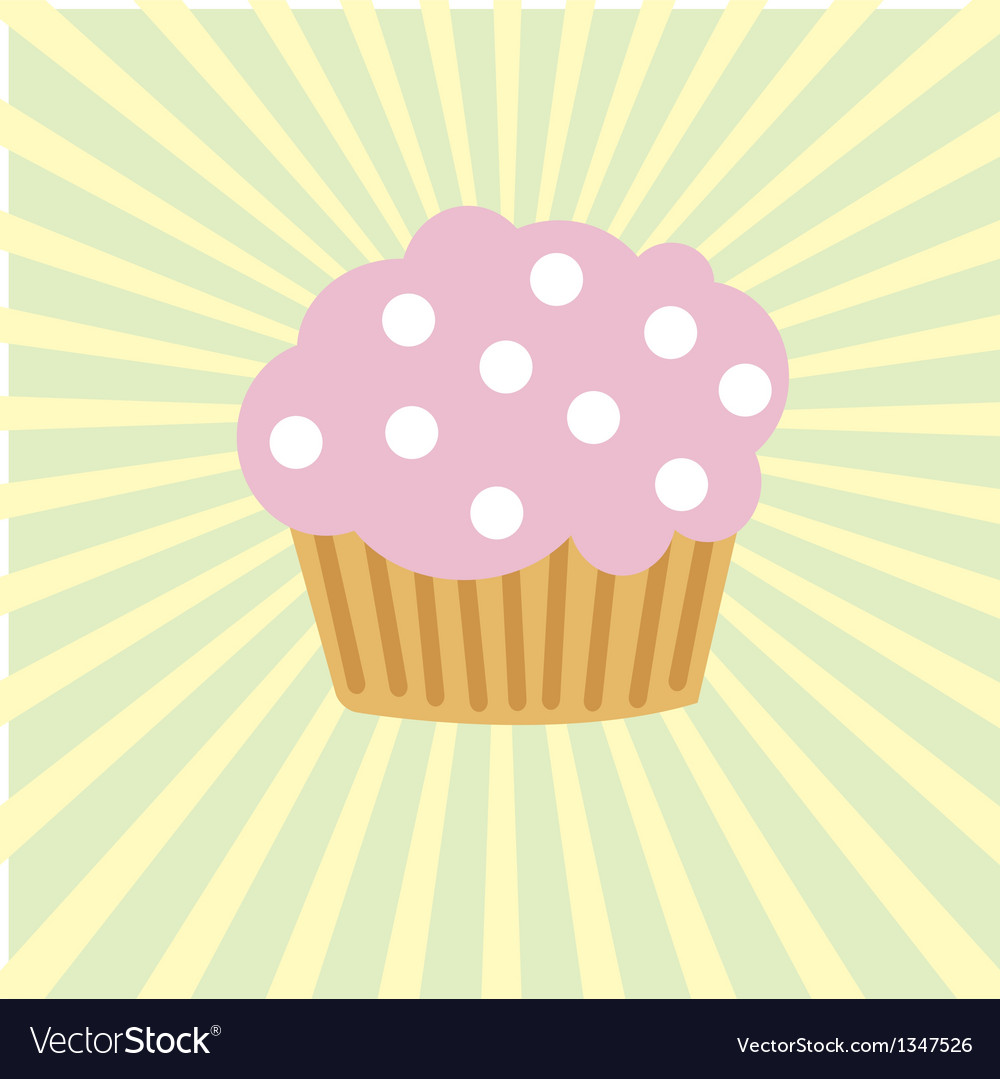 Cute background with small cupcake