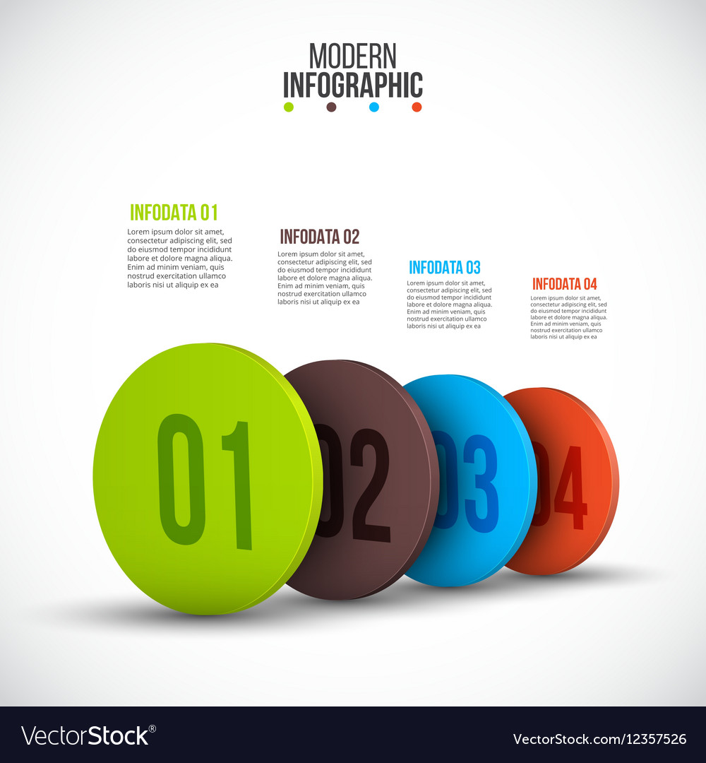 Isometric circle elements for infographic vector image