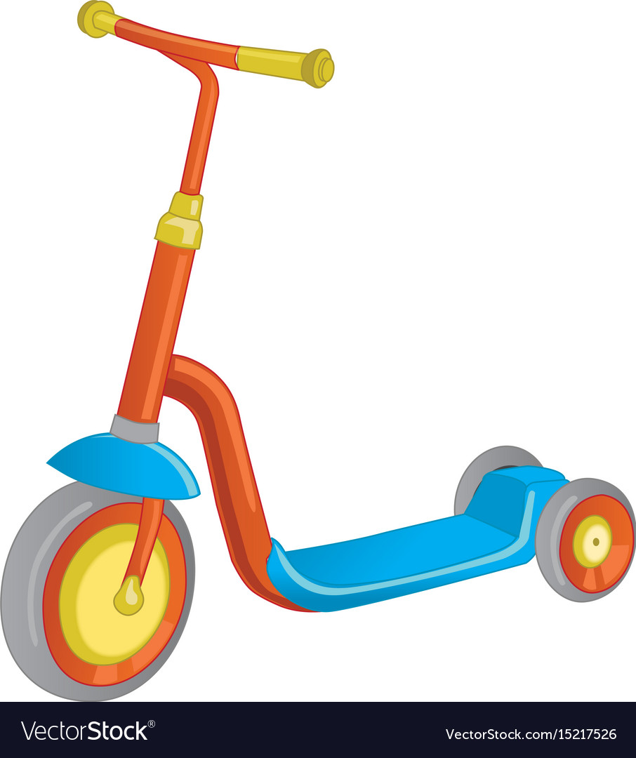 Roller scooter balance bike cartoon cute color