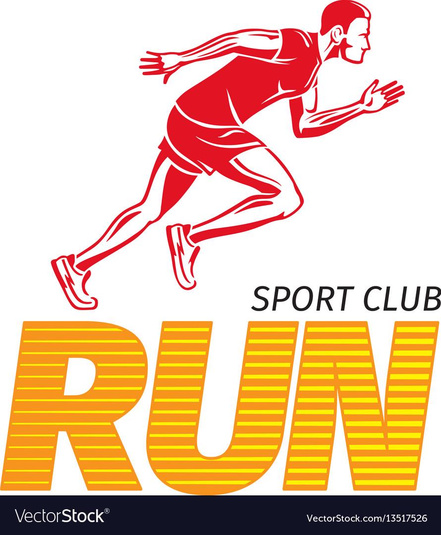 Run sport club jogging man fast jogger