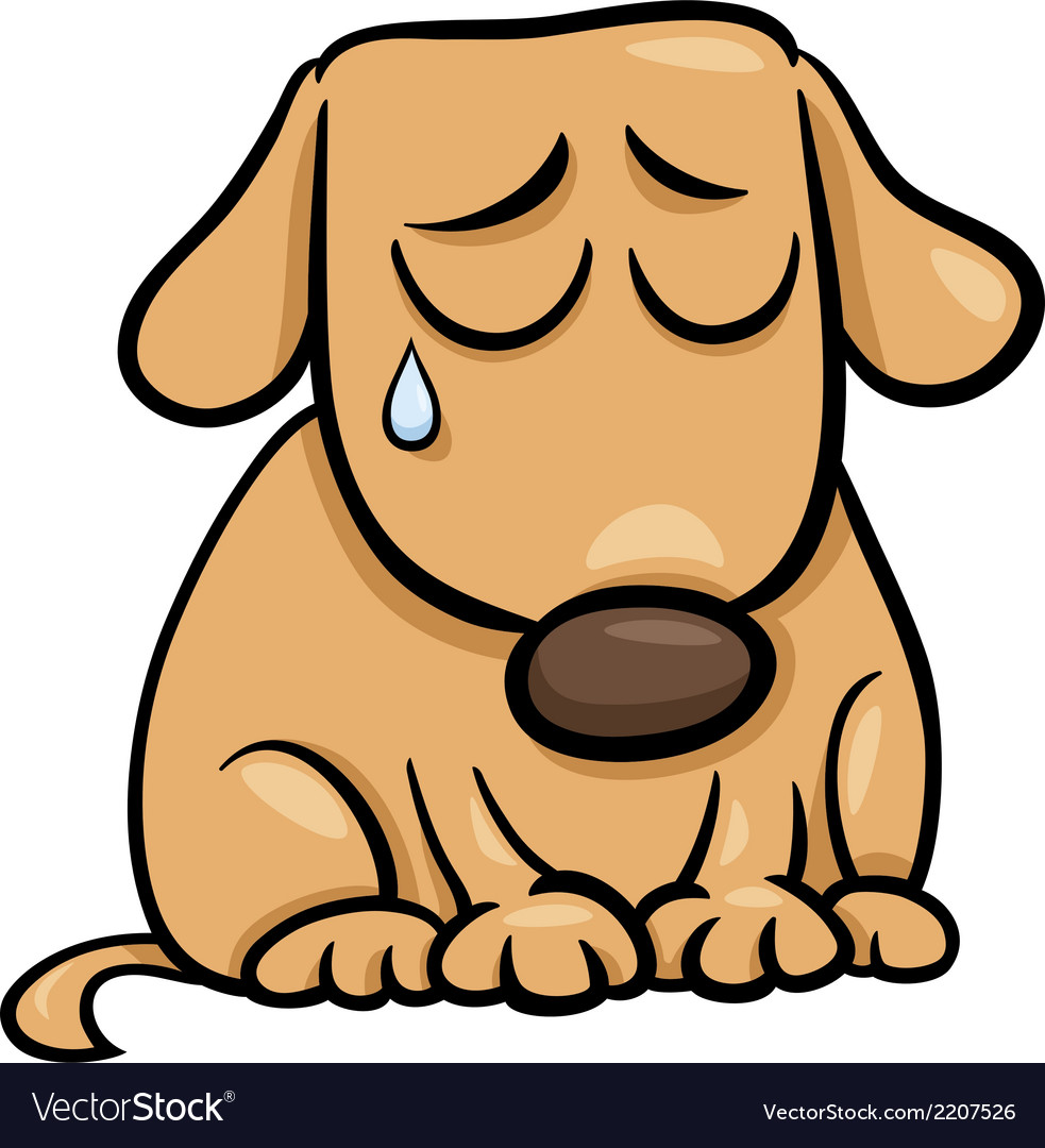 Sad dog cartoon