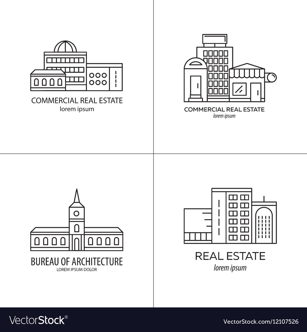 Set of real estate logo