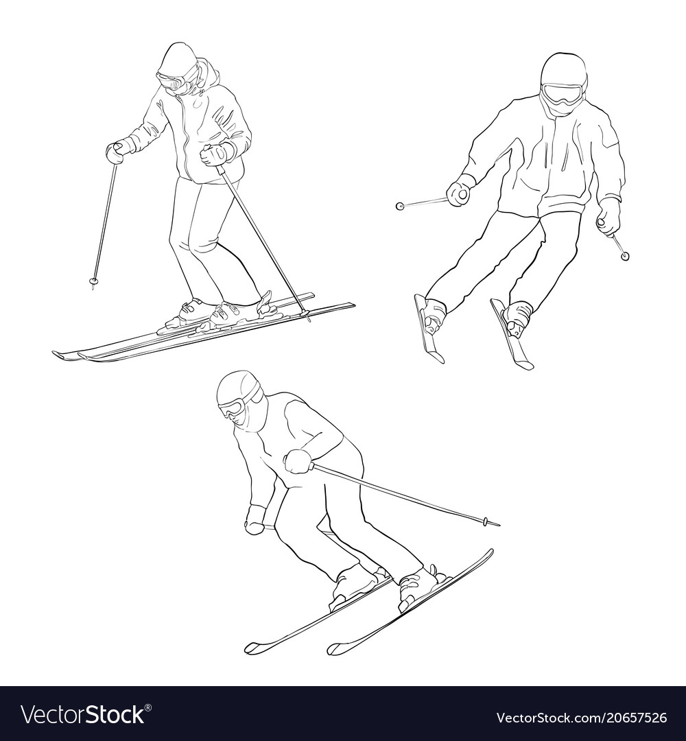 Skiing men