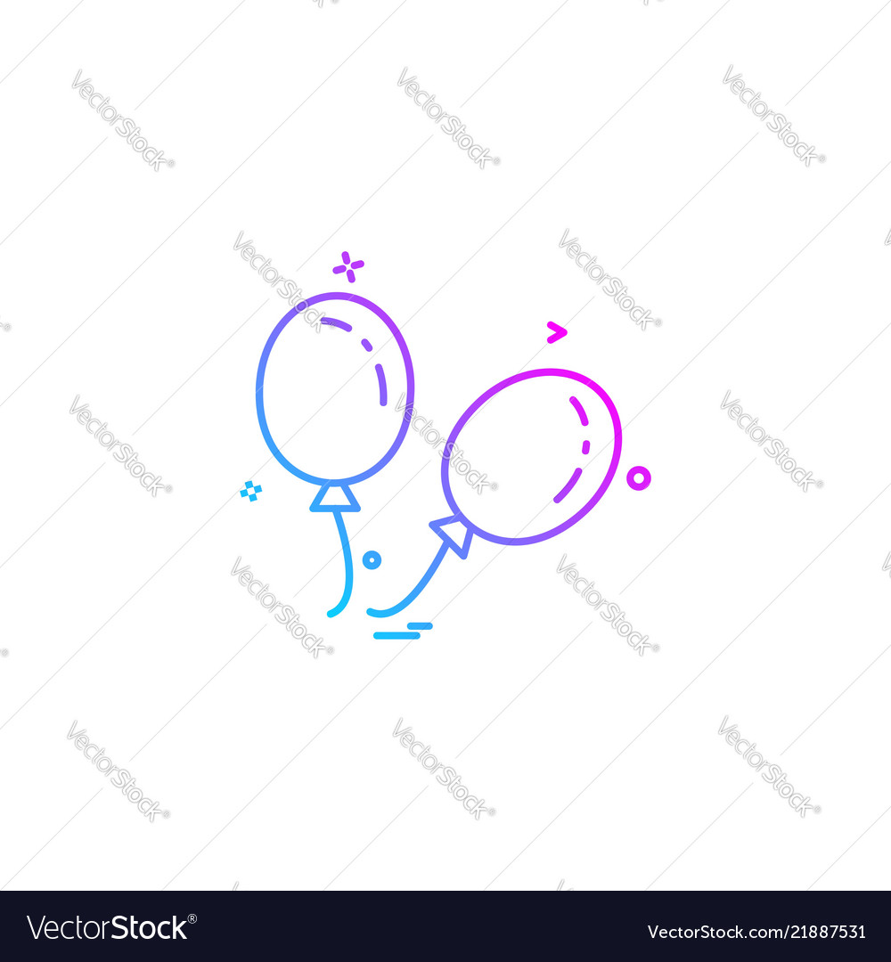 Ballons icon design