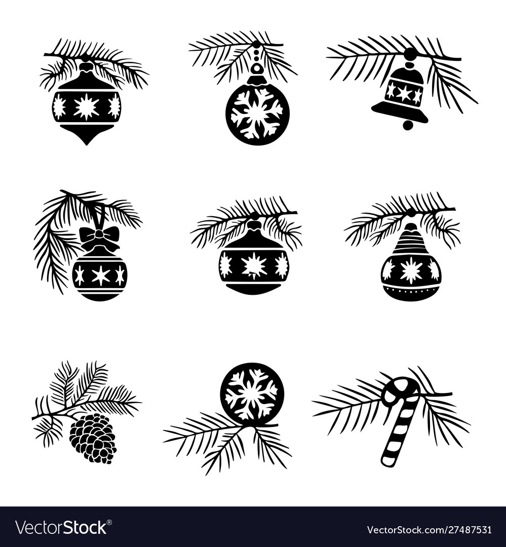 Christmas-tree decorations balls set
