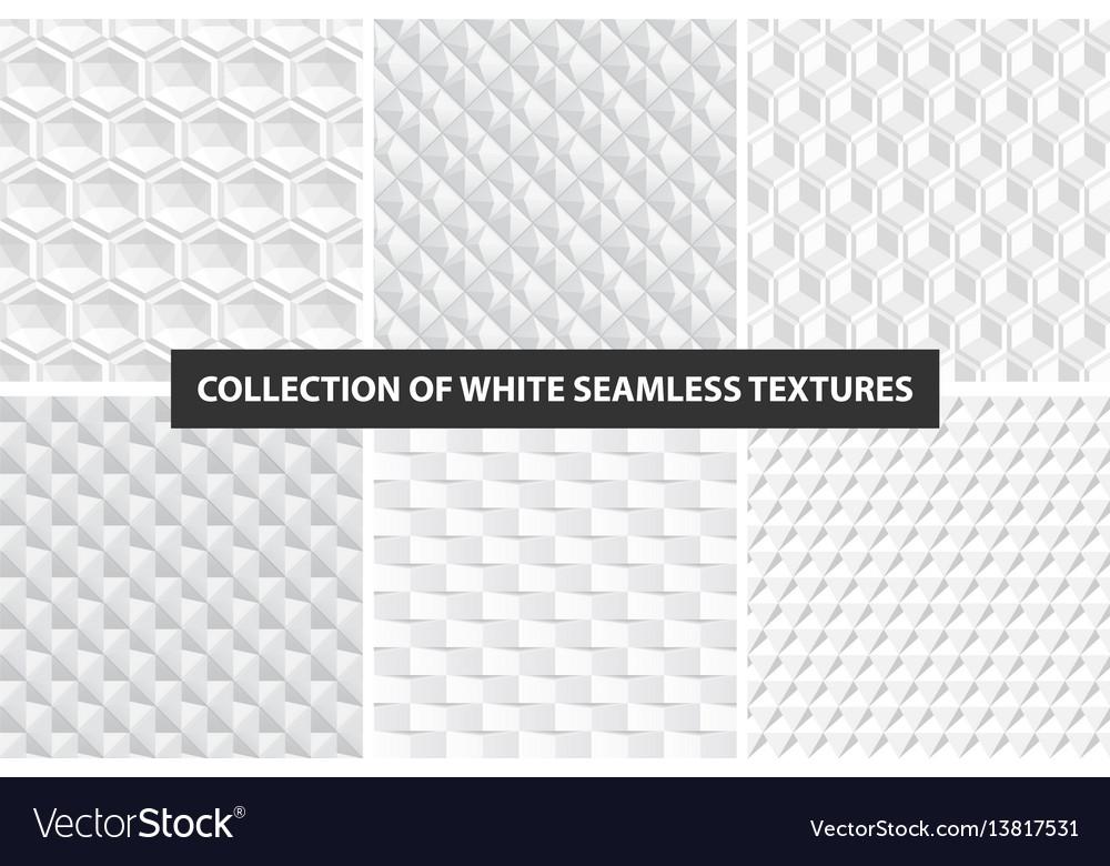 Decorative white seamless textures geometric