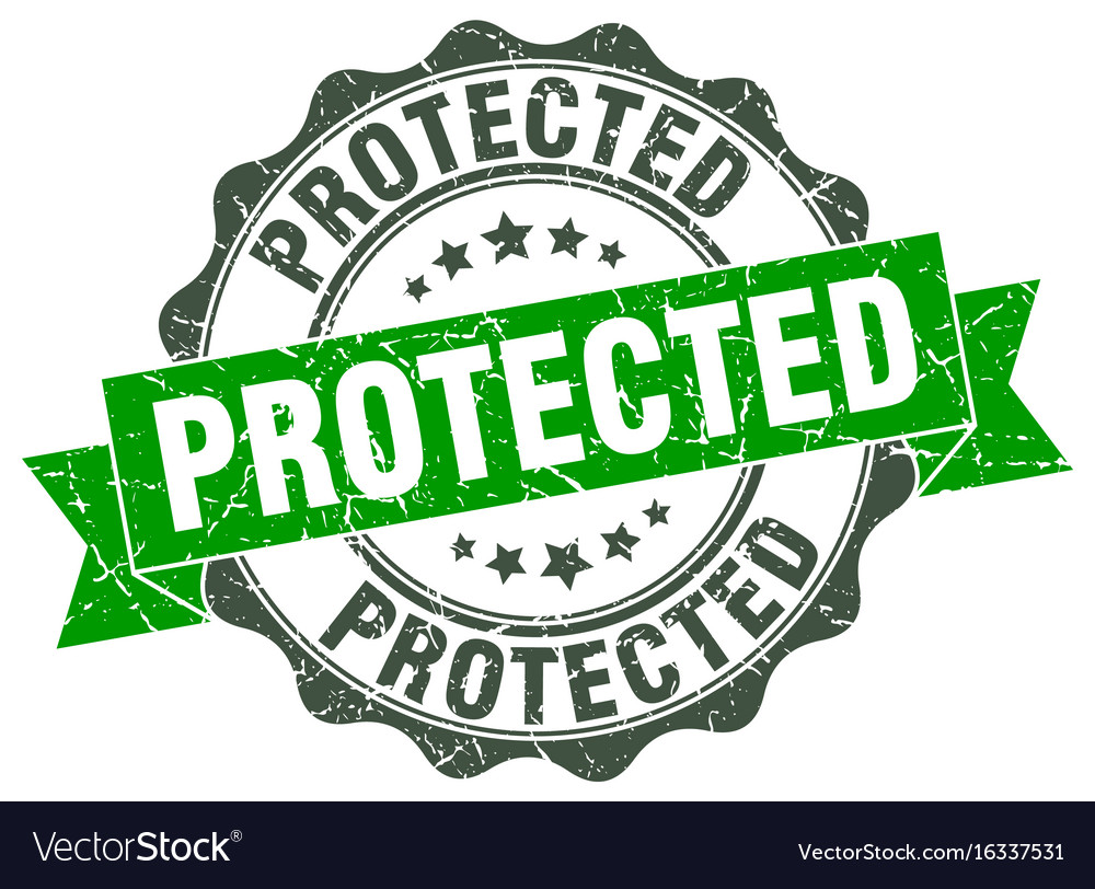 Protected stamp sign seal vector image