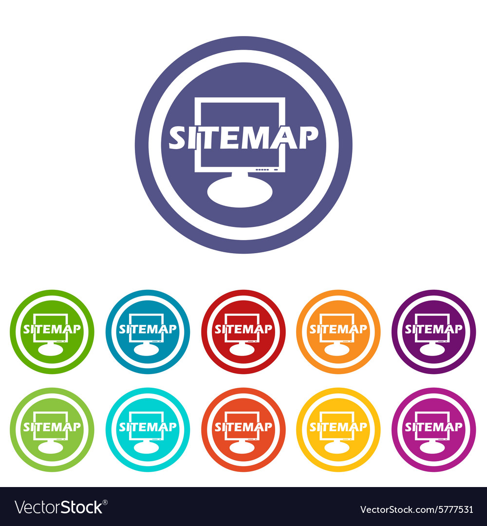 Sitemap signs colored set