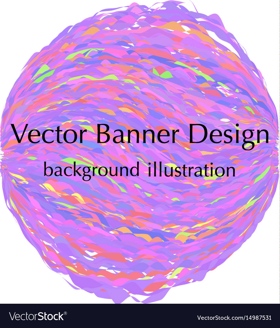 Sphere banner design vector image