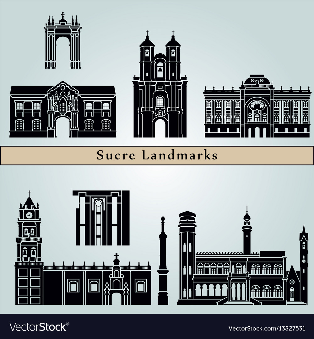 Sucre landmarks vector image