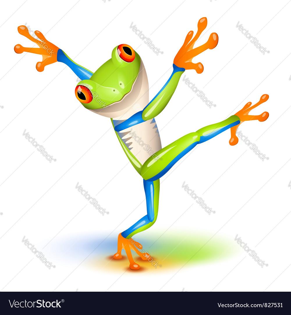 Tree frog dance vector image