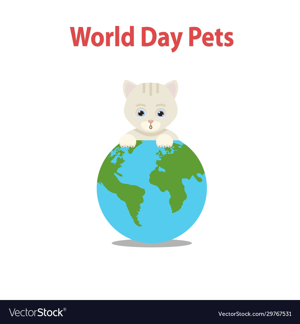 World pet day conceptcute cat
