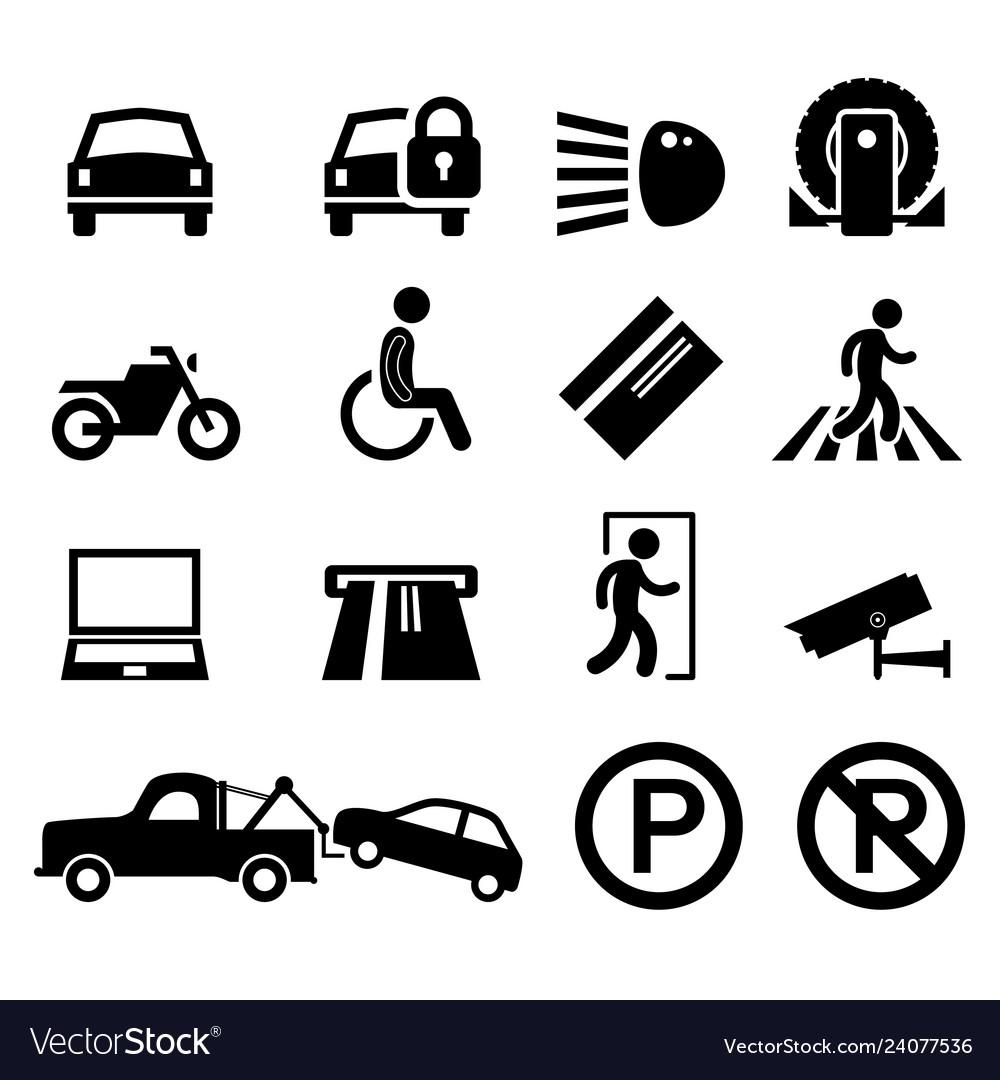 Car park parking area sign symbol pictogram icon