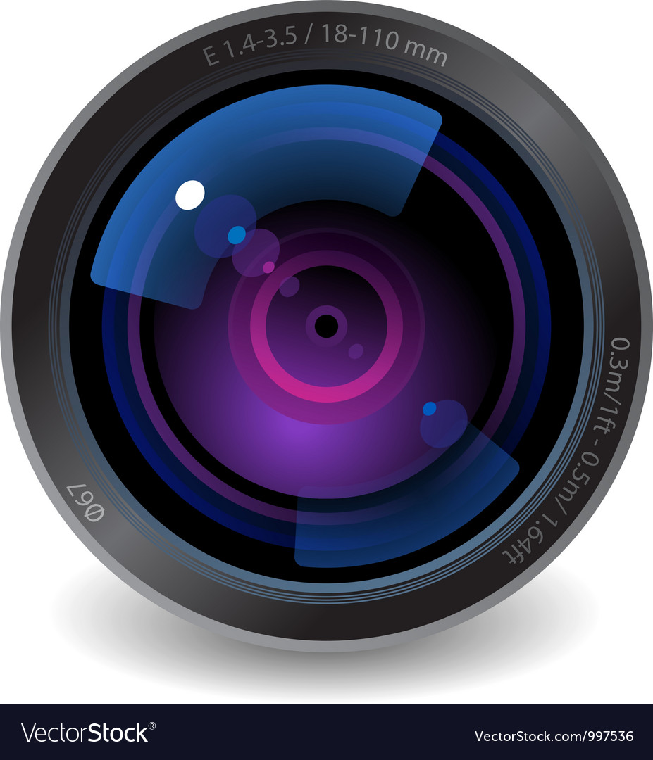 icon for camera lens royalty free vector image rh vectorstock com camera lens vector image camera lens vector free