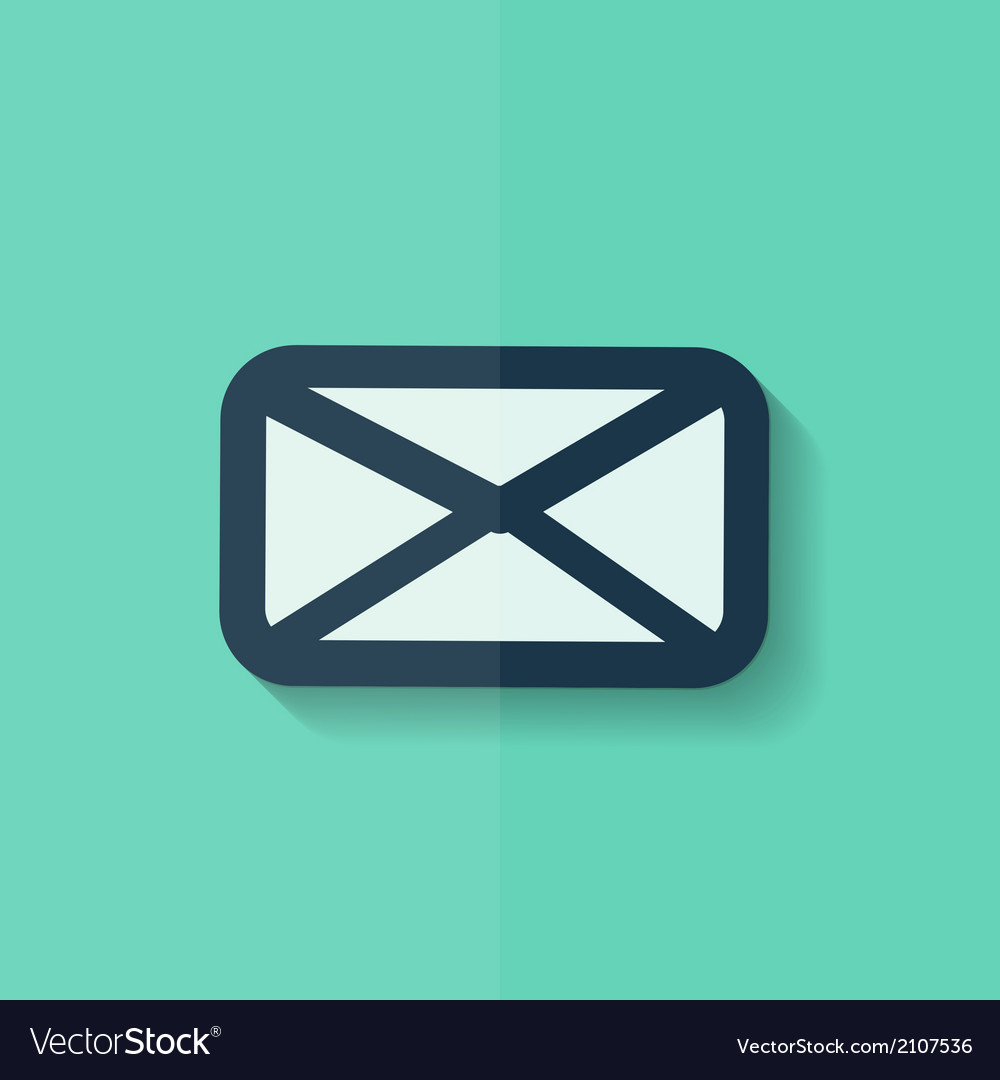 Letter icon Email message Sms Flat design vector image