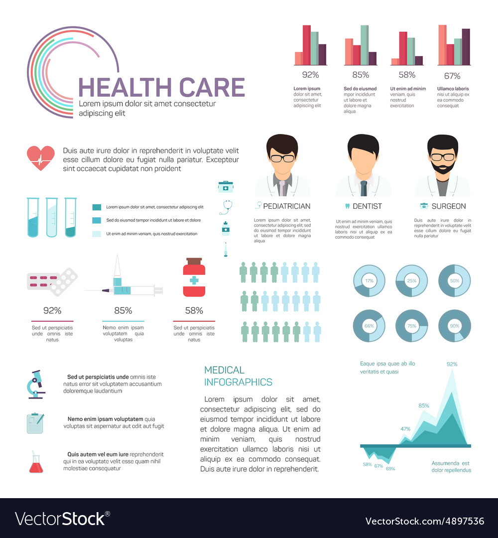 Medical Infographics health and healthcare data