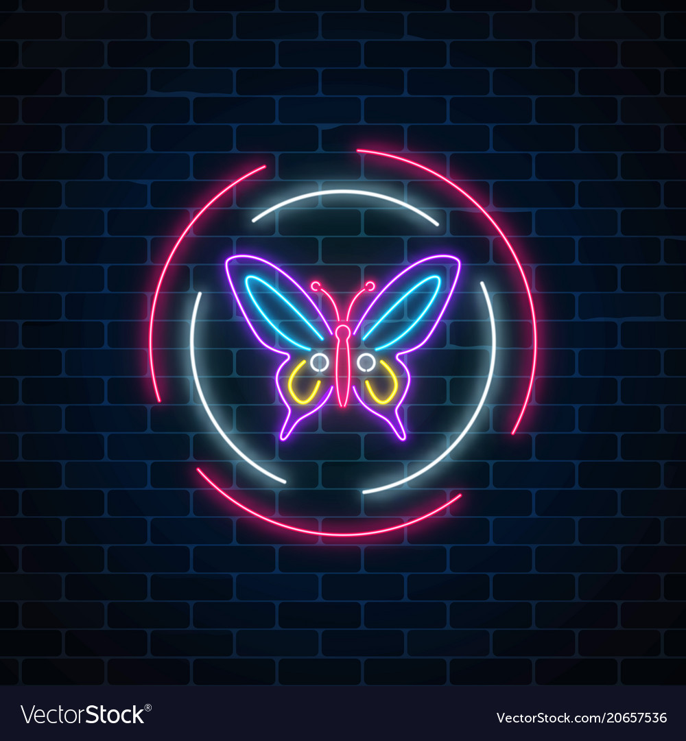 Neon Butterfly Wallpapers Vector Images 43