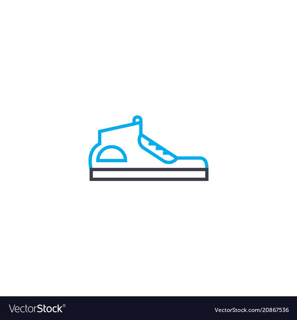 Sport shoes thin line stroke icon sport