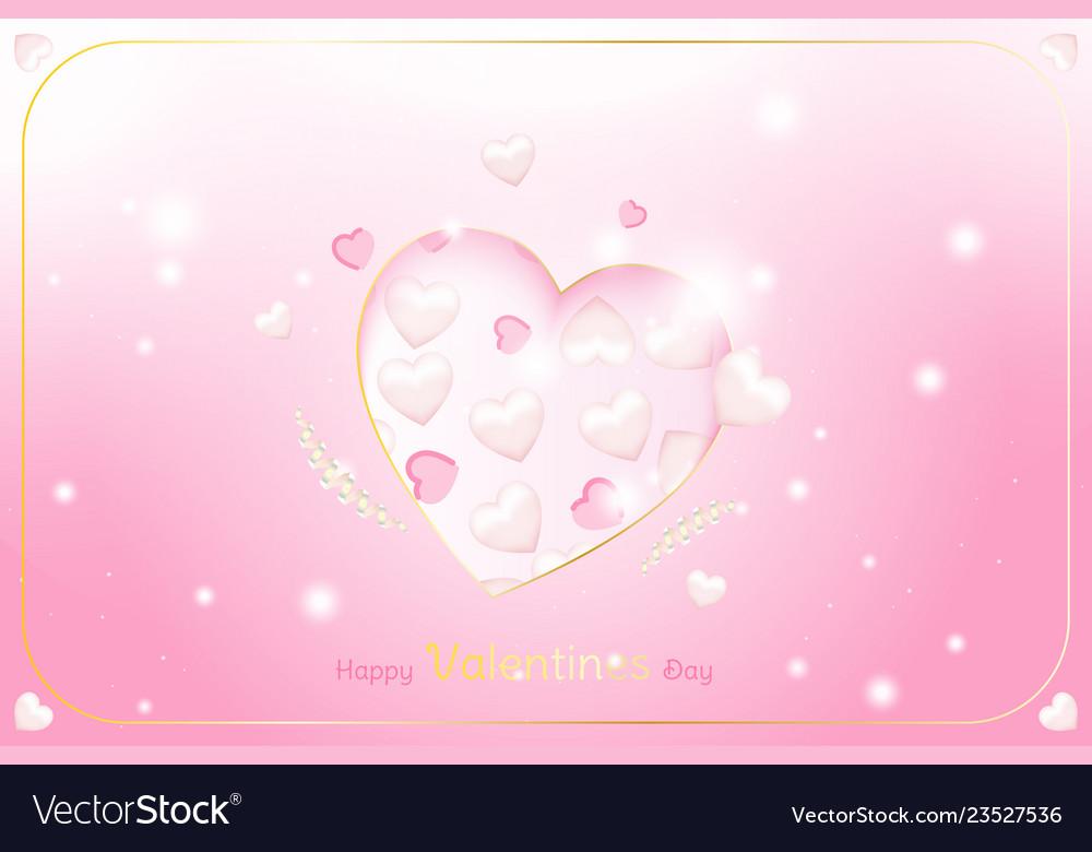 Valentine day greeting card template celebration