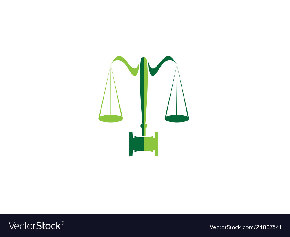 Balance and hammer lawyer or attorney for logo