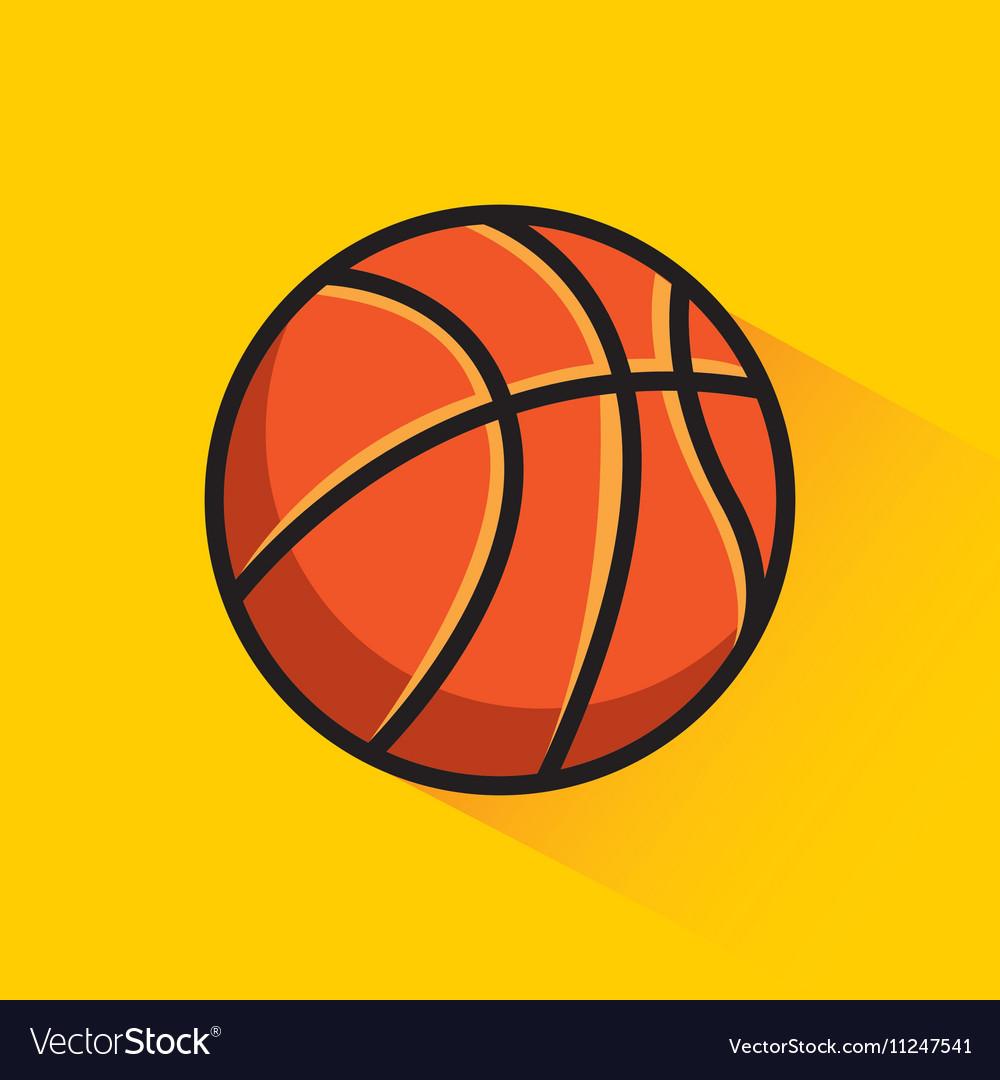 Basketball league emblem classic
